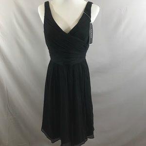 J Crew Heidi Dress, Black, NWT Silk Chiffon